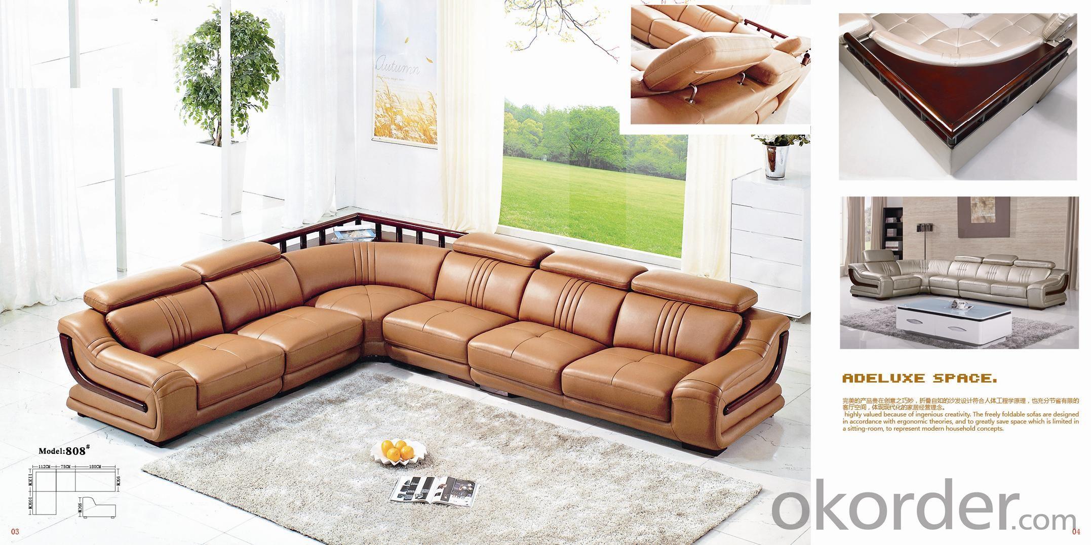 Leather sofa model-14