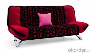 Leather sofabed in fabric model-12