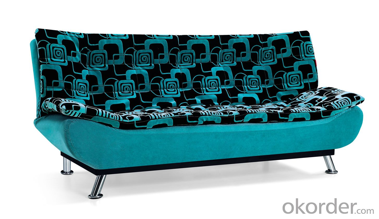 Leather sofabed in fabric model-16