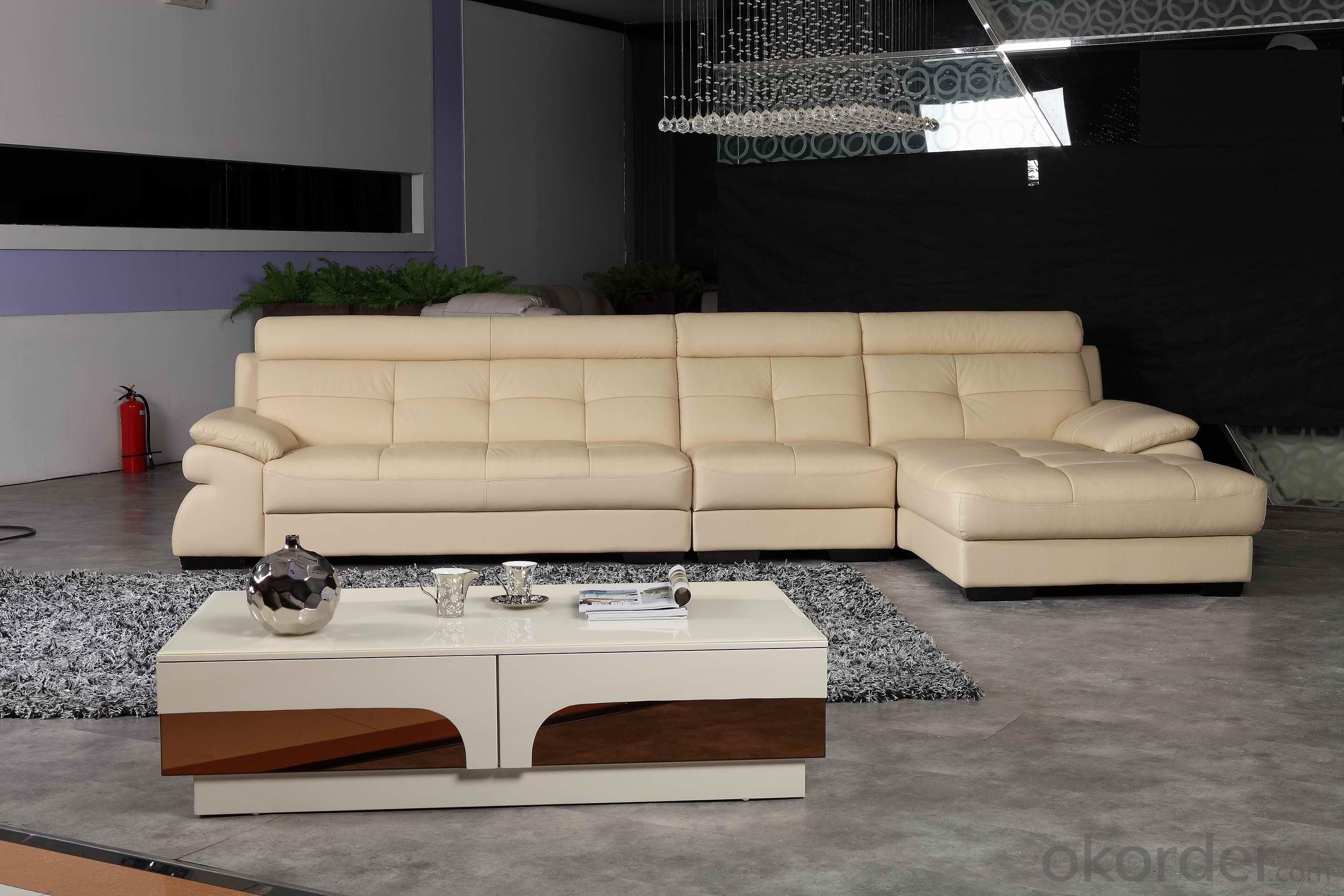 Leather sofa model-17