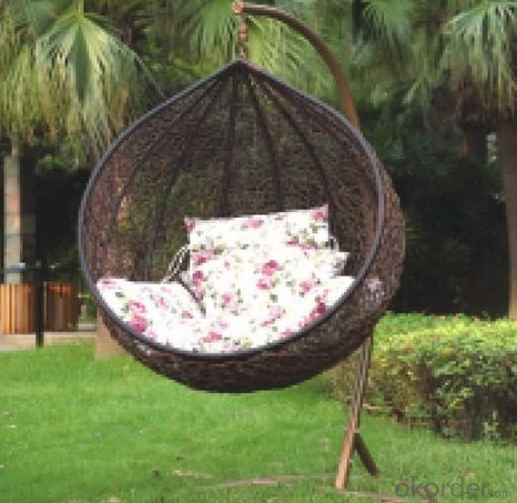 PE Rattan Swing Hanging Egg Chair