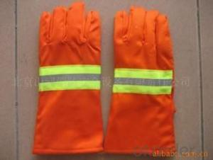 a diferent antifire glove orange pvc