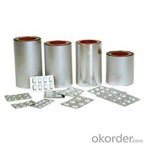 Popular Cold Forming Aluminium Foil OPA 25MICRONS/AL47 MICRONS/PVC 60MICRONS