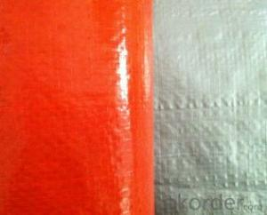 Orange/silver Double Lamination Woven Poly Tarp