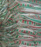 PE tarpaulin in Red&green&white stripe