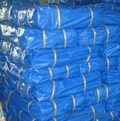 Double blue laminated coated pe fabric