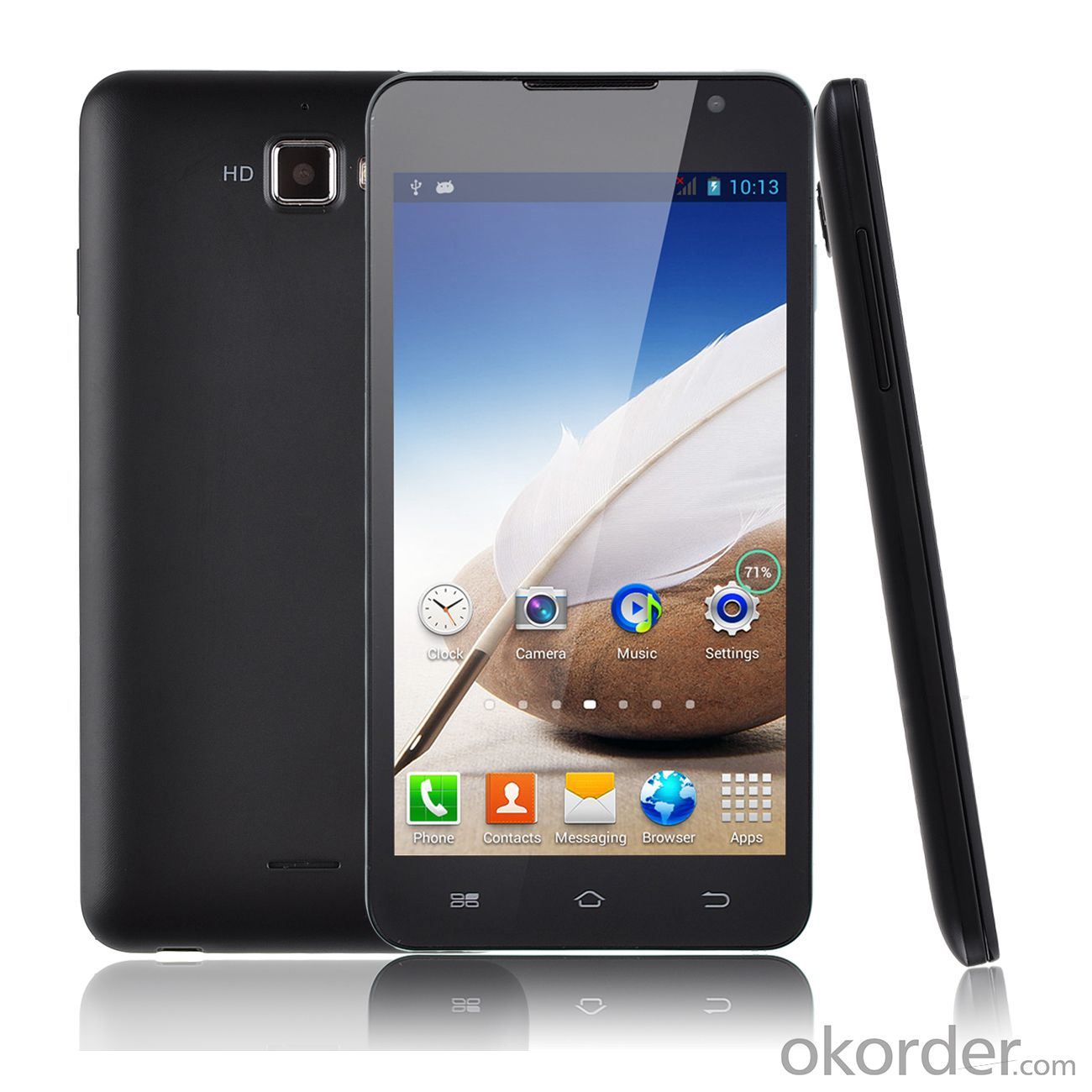 MTK6572 Dual Core 5 inch 3G Android Mobile  Dual Cameras