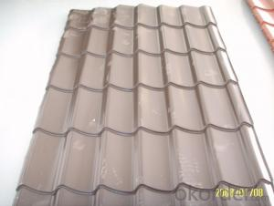 METAL ROOF FOR WAREHOUSE TOP IN PREPAINTED GALVANIZED STEEL COIL