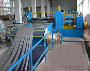 STAINLESS STEEL SLITTING CUT TO LENTH MACHINE