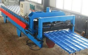 GLAZED TILE FOR ROOF ROLL FORMING MACHINE