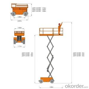 Self-Propelled Rough-Terrain Scissor lifts JCPT serice