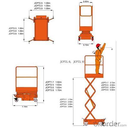 Mobile Scissor Aerial Work Platform JCPT(Mini)