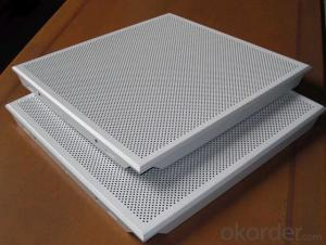 Competitive price perforated aluminum clip-in ceiling tiles