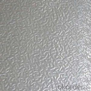 Aluminium embossed sheet with a wide range of properties