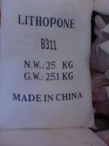 Lithopone 28-30% LithoponeB301 B311 with factory direct sell price