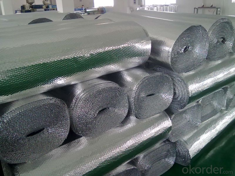 flexible ducts AL+LDPE insulation and bubble foil mylar film for heat seal