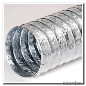 Aluminum flexible ductwork for HVAC evntilation