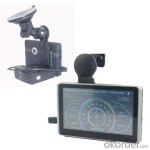 5 inch HD DVR GPS Navigation with Radar Detector