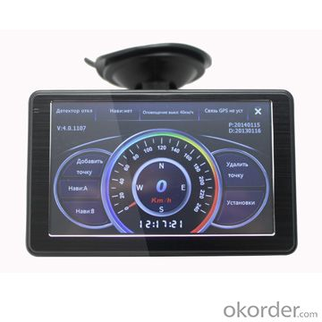 Car Radar Detector GPS 5 Inch Touch Screen