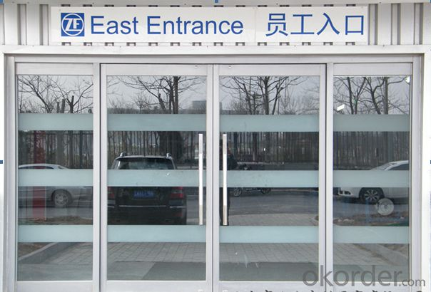 Aluminum frameless glass folding door from China