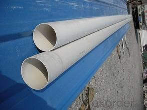 PVC Pipe   ISO9001Wall thickness:1.6mm-26.7mm Specification: 16-630mm Length: 5.8/11.8M Standard: GB