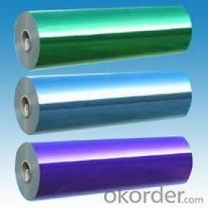 Blue Color Pet+20mic Polyester for Foam and Bubble Lamination