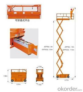 Full Electric Aerial Work Platform Mode--JCPT8(I)/9.5(I)