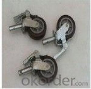 wheel caster heavy duty scaffold caster with lock or double locks