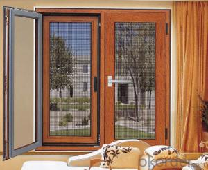 Aluminum Casement Window with Double Glass and Soundproof