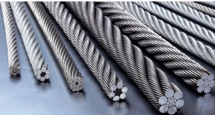 Round Strand Steel Rope with Quality Carbon Steel
