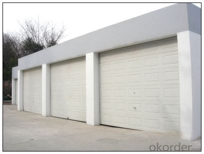 Automatic Sectional Garage Door for Fashion Design