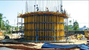 Adjustable      arced     formwork     KTYH