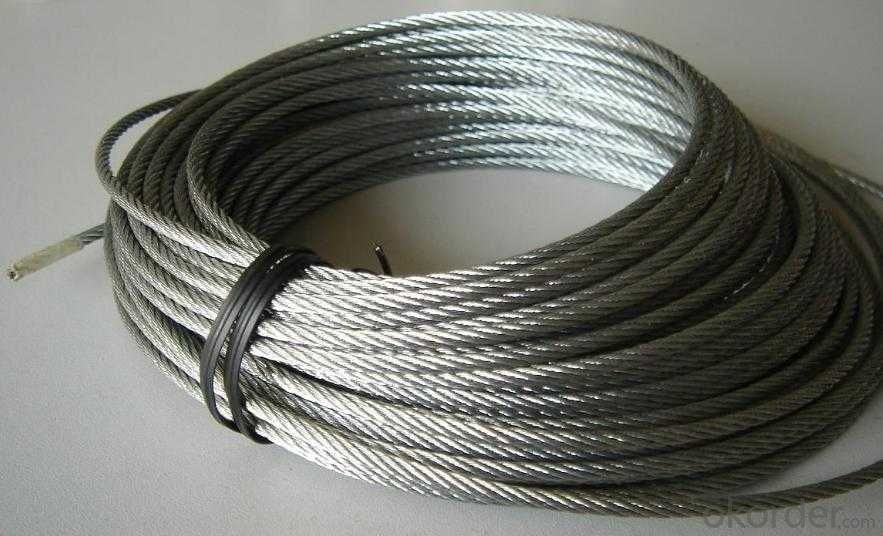 Galvanized Steel Wire Rope Steel Wire Ropes With High  Quality