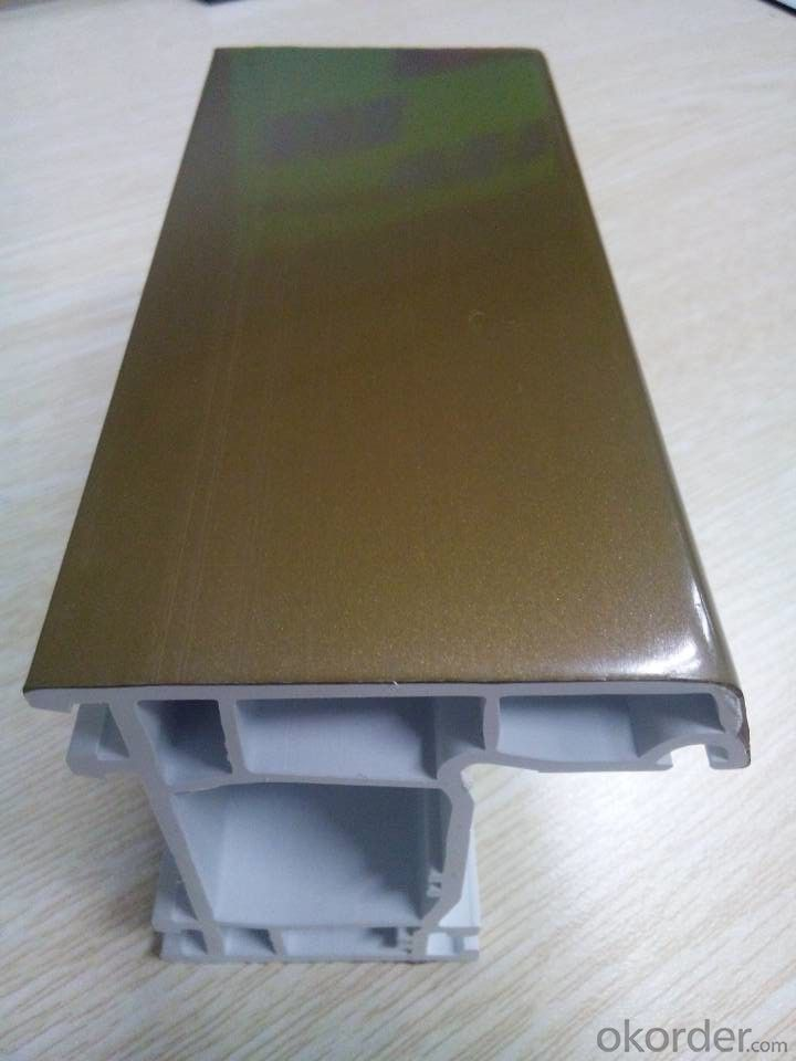 Double color coextrusion profile for window  frame