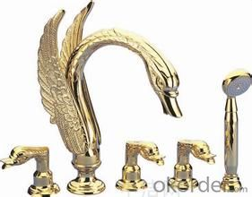 Faucet watermix tap Single Hole Antique Brass Faucet in Bathroom