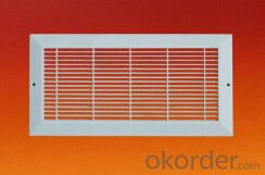 Plastic Return Air Grille PP ABS white color