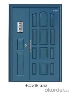 Security steel door with popular design,single security door