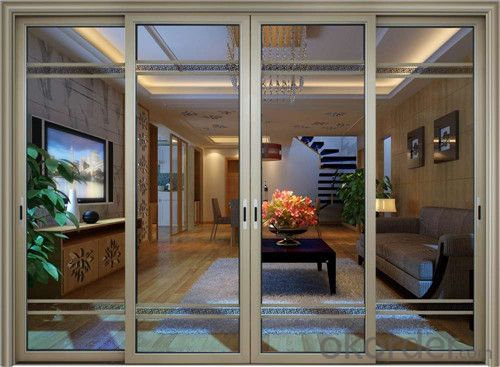 professional powder coated bullet proof aluminum security sliding door