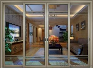 powder coated bullet proof aluminum sliding door