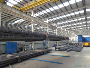 rebar truss with galvanized steel plate for building floor or just rebar truss for railway sleeper