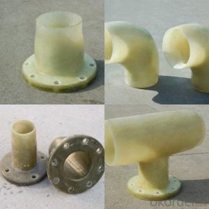 Fiberglass reinforced pipe fittings at any shape
