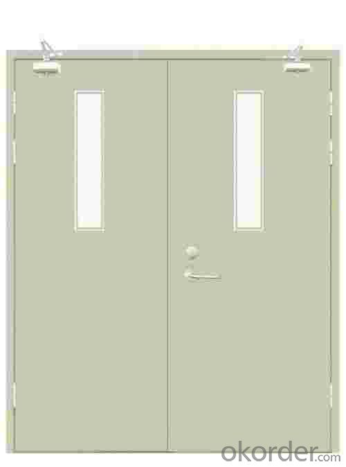 Single leaf galvanized steel fire rated door