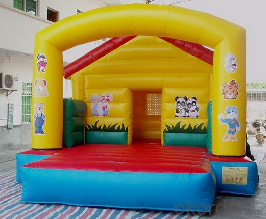 Kids jumping inflatable playground bounce house