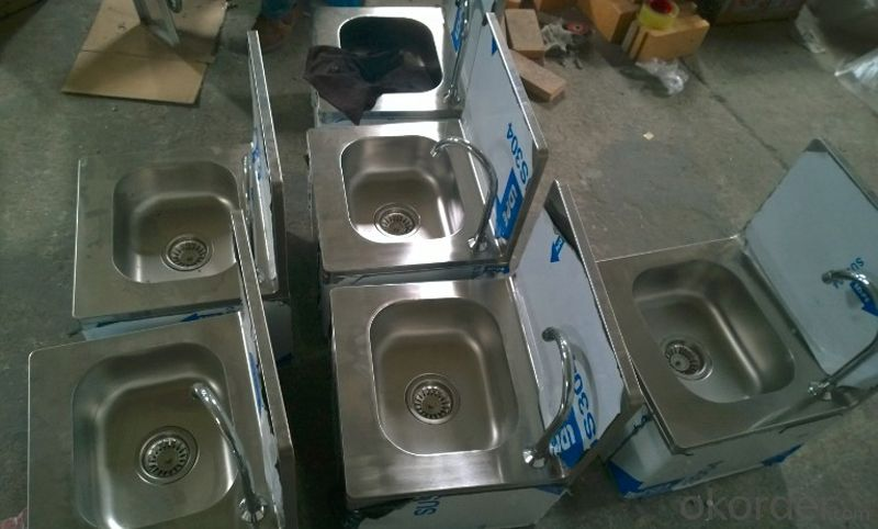 Stainless Steel Sink Basin Hands Free Handless Knee Operated Catering