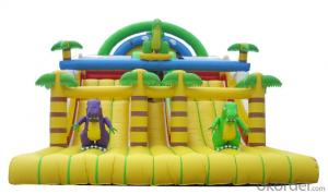 Dinosaur tipo hot sale attractive inflatable super slide