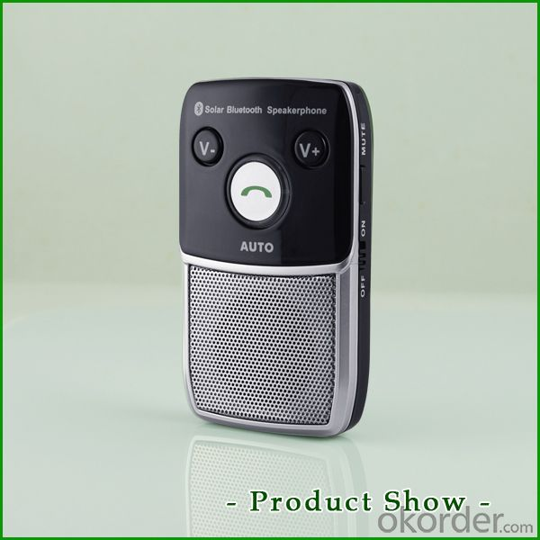 Wireless phone solar bluetooth handsfree car kit speakerphone support music play