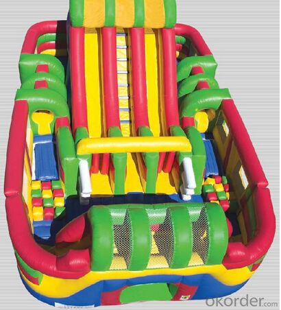 CE standard 0.55 mm PVC Material and bouncer Type giant inflatable slide