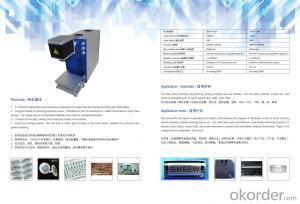 Laser fiber  engraving machine for watch metal