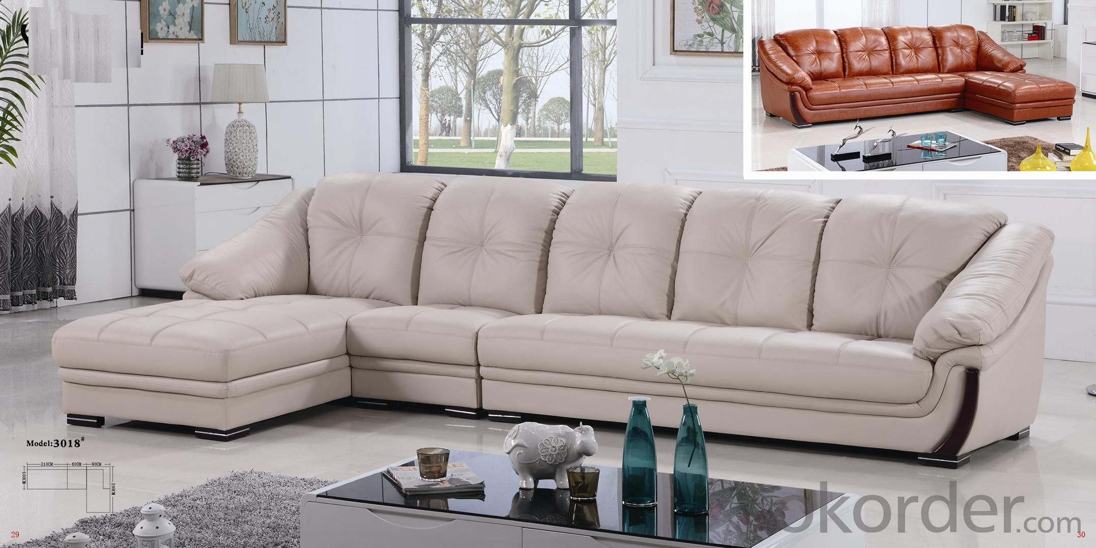 CNBM US popular leather sofa set CMAX-06