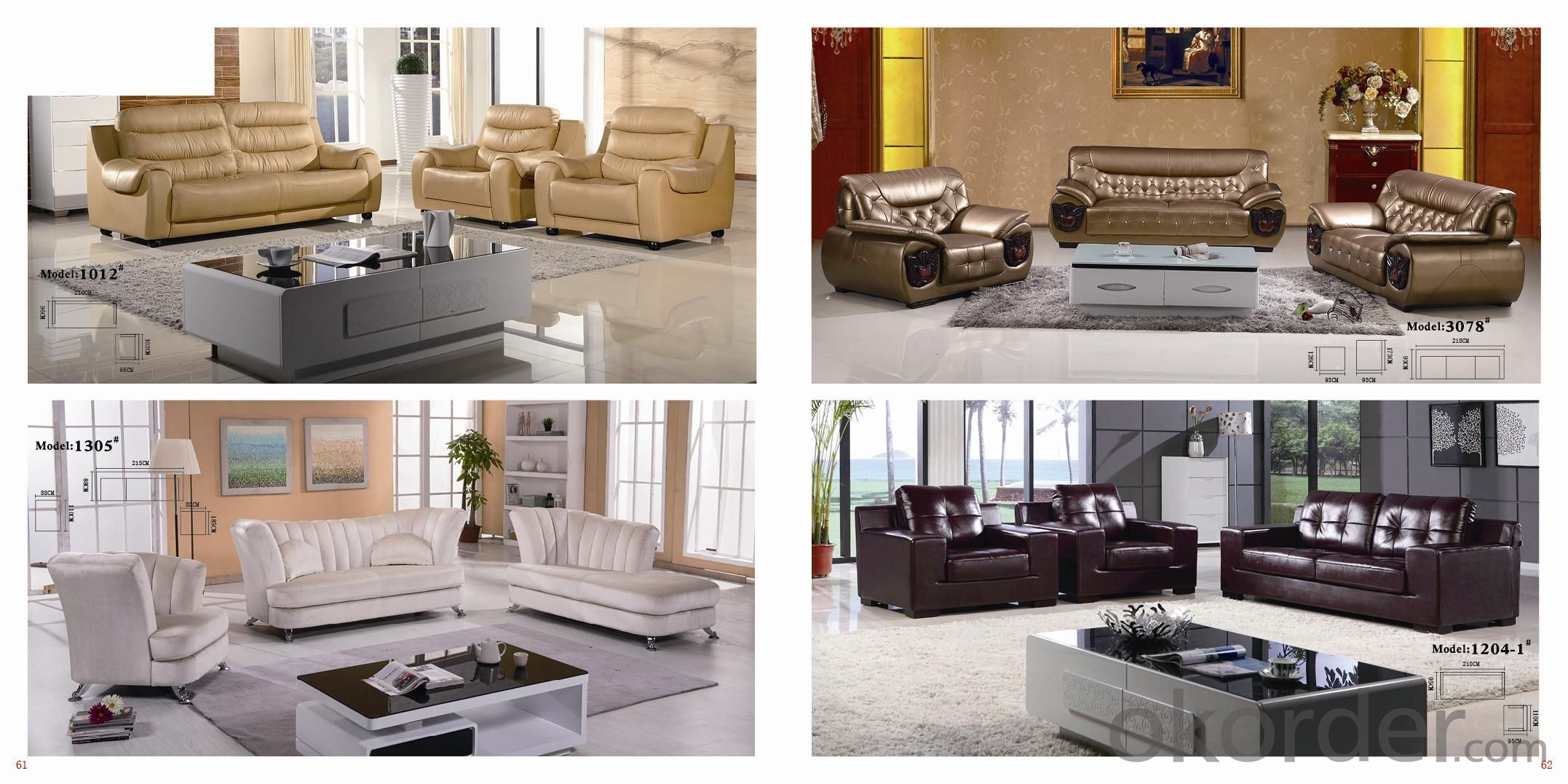 CNBM US popular leather sofa set CMAX-03